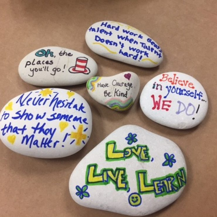 Mill Creek Kindness Rocks created by MCES Teachers